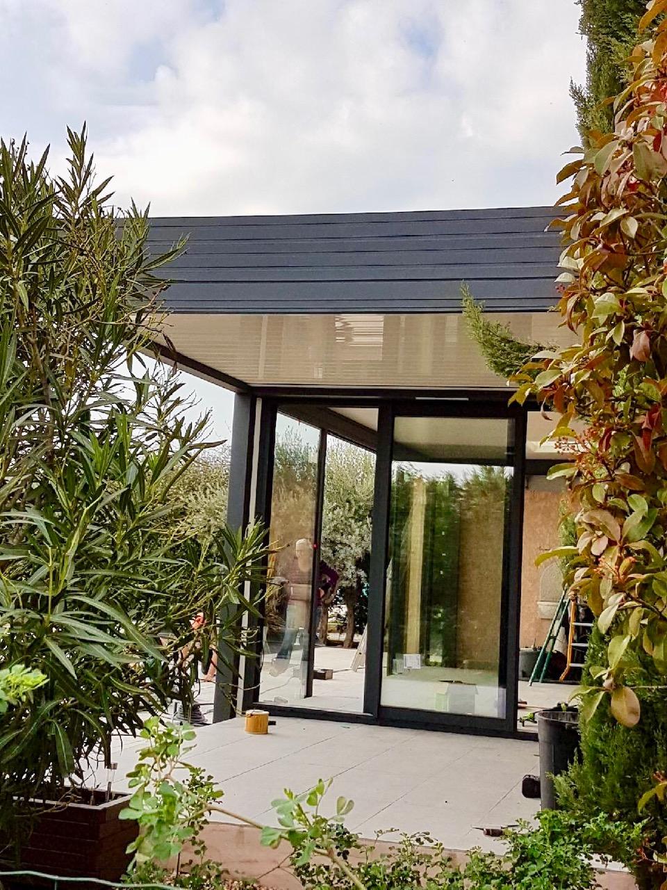 Veranda toit plat tendance